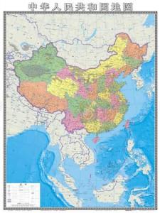 双语新闻:中国发行竖版新地图