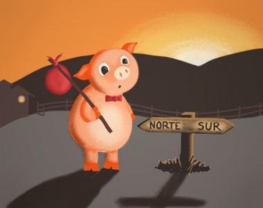 西班牙语有声书:《三只小猪》
