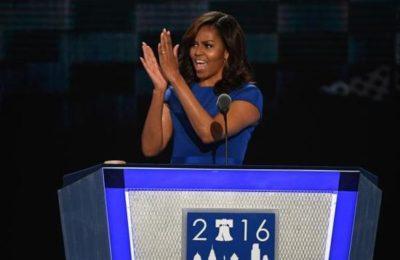 米歇尔·奥巴马 演讲力挺希拉里,惹得特朗普暴跳